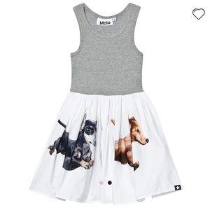 Molo NEW Cassandra Dog Twirling Tank Dress